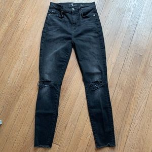 7 for all Mankind Aubrey distressed skinny jeans